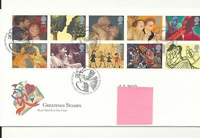 GB First Day Cover - Greetings Stamps - 1995 - Postmarked Edinburgh