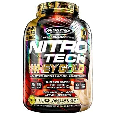 PROTEINA NITRO TECH 100% WHEY GOLD 2.5kg Cookies and Cream MUSCLETECH