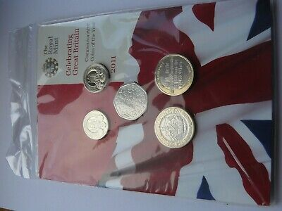 2011 Royal Mint UK brilliant Uncirculated 13 Coin Set - Mint Factory sealed