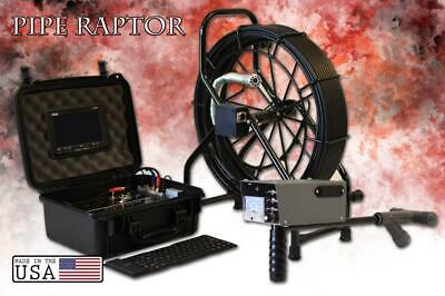 125' Color Sewer Camera Video Pipe Drain Inspection System + Analog Locator Wand