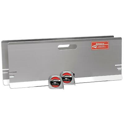 Longacre Racing 79501 Aluminum Toe-In Plates w/ Magnets w/ Tape Measure