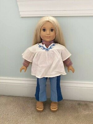 American Girl 18-Inch Doll Julie Albright - Used, Outfit Included