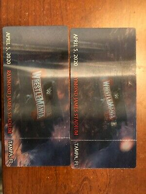 Wrestlemania 36 3D tickets (Collectors Item)
