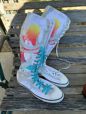 Vintage Men's Converse All Star Tall Shoe Chuck Taylor Rainbow Colors Size 8