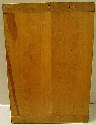 Old Primitive Farmhouse Wooden Cutting Board W/Bread Board Ends Signed Munising