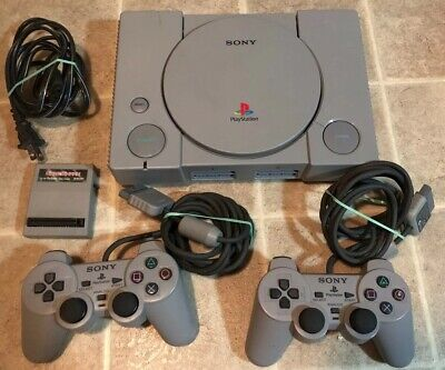 Sony PlayStation PS1 Gray Console System Bundle SCPH-5501 *No TV Adapter*