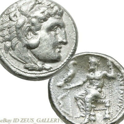 ALEXANDER the Great LIFETIME ISSUE Tetradrachm Herakles Bow Ancient Silver Coin