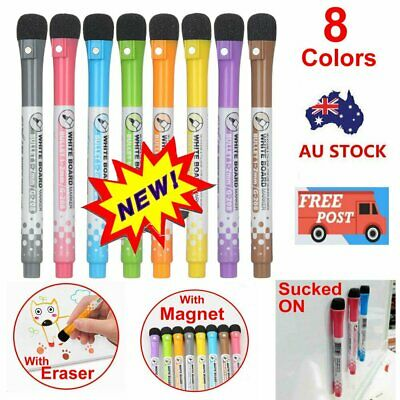 8 Color Non-toxic Painting Erasable Markers Mark Pen Magnetic Whiteboard Pen EE