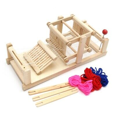 3X(Wooden Traditional Weaving Loom Children Toy Craft Educational Gift Wood I7G5
