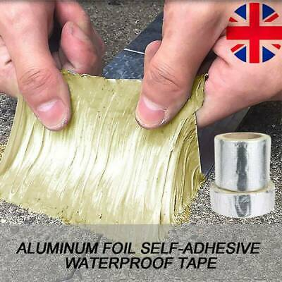 Magic Self Tape Aluminum Butyl Foil Heat Shield For Pipe Repairing Waterproof UK