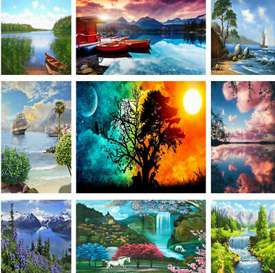 Scenery DIY Paint By Number Kit Digital Oil Painting On Canvas Art Home Decor
