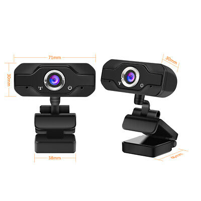 USB 720P HD Webcam Web Cam Camera with Microphone for PC Laptop Video Calling UK