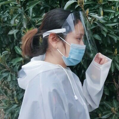 Transparent Adjustable Full Face Shield Plastic Anti-Saliva Protective Eyes US