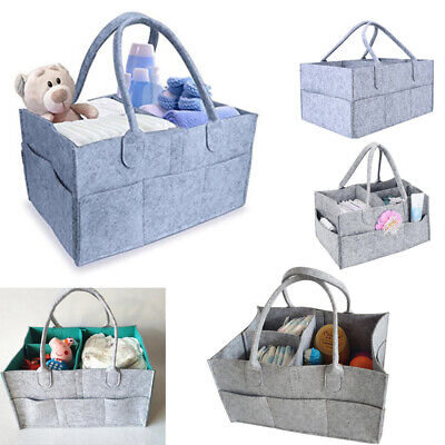 Felt Baby Diaper Caddy Nursery Storage Changing Bags Nappy Organizer Container