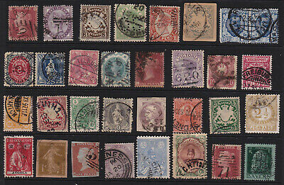 Old  Album Selection Early Stamps inc. Queen Victoria GCV