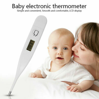 LCD Digital Thermometer Medical Baby Adult Body Kids Safe Ear Mouth Temperature