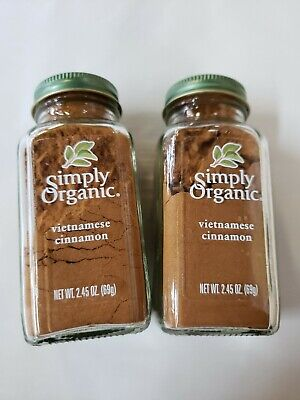 2 bottles of Simply Organic, Cinnamon, 2.45 oz (69 g), bb sep 22