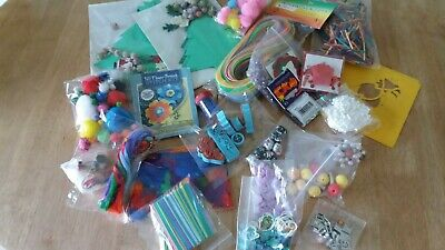 Large  Assortment of Craft Items Suitable  for Childrens Crafts  -  (pack C)
