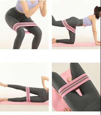 Resistance Bands Fabric  Hip Circle Yoga Pilates Stretch Home Workout Exercise