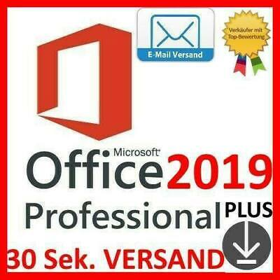 Office 2019 Pro Professional Plus ✓ 32/64BIT - Vollversion ✓ per Emai l✓ Key ✓