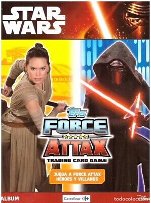 Album Star Wars: Topps Force Attax Tradding cards game - Nuevo y vacio, plamcha
