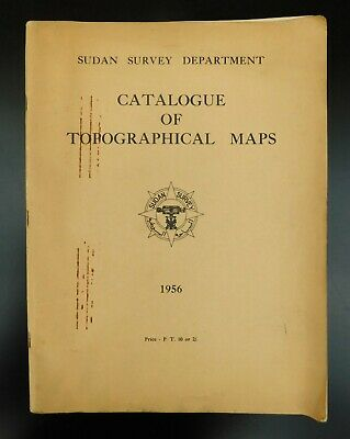 Sudan Survey Department - Catalogue Of Topographical Maps 1956
