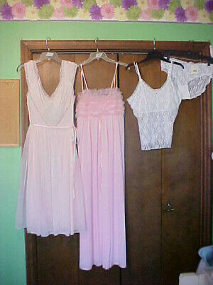 VTG / recent WOMEN SEXY GOWNS lingerie 38 / XL / 8 POWERS MODEL, GOTHAM LINGERIE