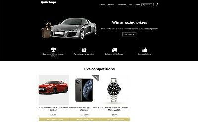 Online Business | Competition Raffle Lottery Website - £ Make Money Instantly