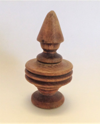 Antique Wooden Finial 2 Piece  for Clock or Furniture