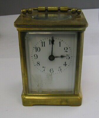 Vintage Carriage Clock Made in France 1880's