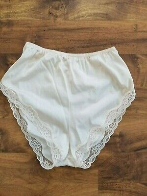 vtg Ashley Taylor silky lace NWOT pantie panty high waist peeky cheeky nude colo