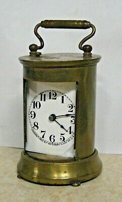 Rare Waterbury Cylinder Type Wayfarer Repeater Brass Carriage Chime Clock As-Is