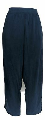H by Halston Women's Plus Sz Pants 2X Brushed Modal Pull-On Blue A305401