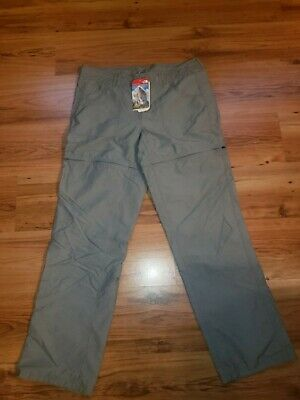 The North Face Womens Convertible Hiking Outdoor Pants Shorts Gray Size 12