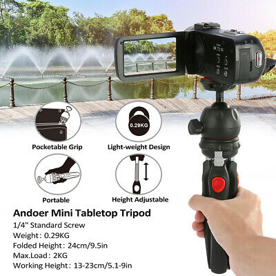 Andoer Mini Tabletop Phone Tripod Portable for DSLR Camera LED Video Light T5A4