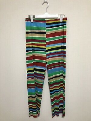 PLEATS PLEASE issey miyake pants bottoms trousers multi color size 4 new