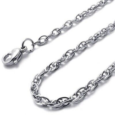 Jewelry ladies chain, stainless steel curb chain necklace, silver (width 2  L6E4