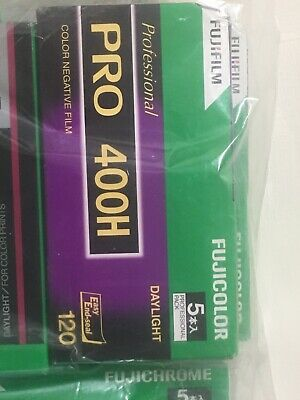 5 Rolls FUJIFILM FUJI PRO 400H Professional Color Negative Film (120 Roll Film)
