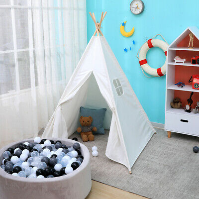 Teepee Play Tent for Kids Toys for Girls/Boys Indoor & Outdoor Game House White
