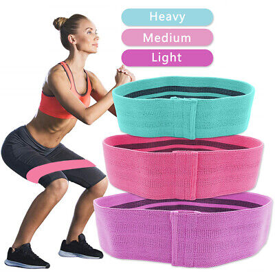 Fabric Resistance Bands Butt Exercise Squat Loop Circles Set Legs Glutes Women