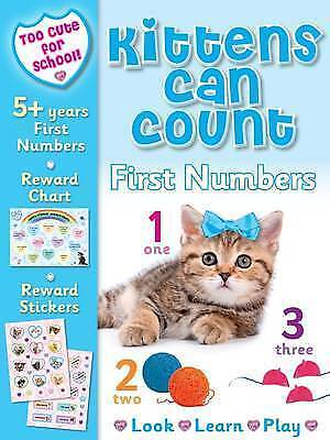 NEW FIRST NUMBERS age 5+ Kittens can count LOOK LEARN PLAY REWARD CHART STICKER