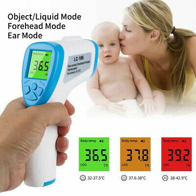 Digital LCD Thermometer Infrared Forehead Non-touch Baby Adult Temperature Gun -
