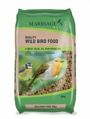 Marriages Wild Bird Mixed Seeds Food for All Seasons, 20 Kg