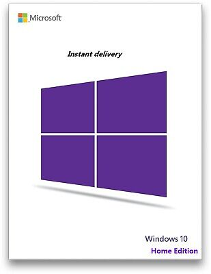 Instant Windows 10 Home 32/64bit Genuine Key Product Code / Win 10 Home
