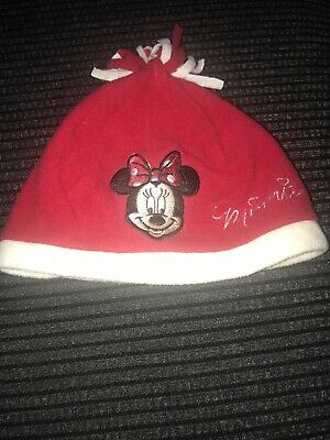 Girls Disney Minnie Mouse Red Hat Age 2-4 Years