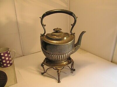 silverplated kettle on stand c1900