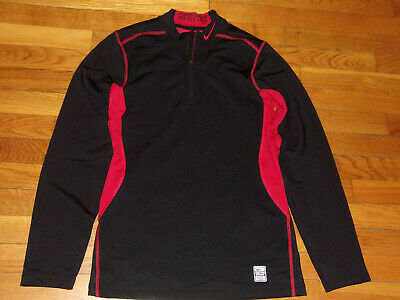 Nike Pro Combat Dri-Fit Hyperwarm 1/4 Zip Fitted Pullover Jersey Mens Small Exc.