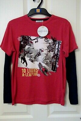 Boys T Shirt Age 11-12 Years Marks & Spencer Indigo  New With Tags