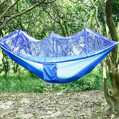 Outdoor Camping Double Mosquito Net Hammock Tent Hanging Bed Swing Yard Patio
