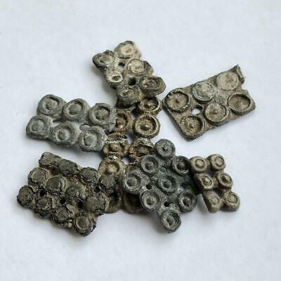 Lot of 4 Ancient Celtic Proto Money - Symbol Sun / Pre-coins